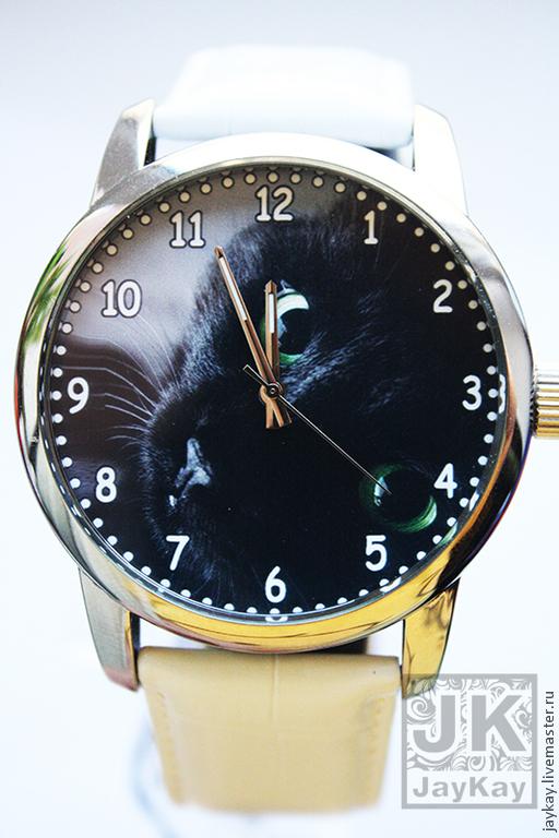 """Часы ручной работы. Ярмарка Мастеров - ручная работа. Купить Часы наручные JK """"Кот"""". Handmade. Часы"""
