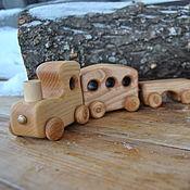 Техника, роботы, транспорт ручной работы. Ярмарка Мастеров - ручная работа Деревянный паровоз. Handmade.