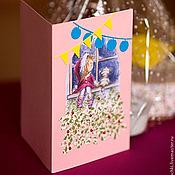"""Открытки ручной работы. Ярмарка Мастеров - ручная работа Открытка """"Ждём Деда Мороза"""". Handmade."""