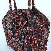 Сумки и аксессуары handmade. Livemaster - original item Bags: Red summer Paisley jacquard with beads. Handmade.