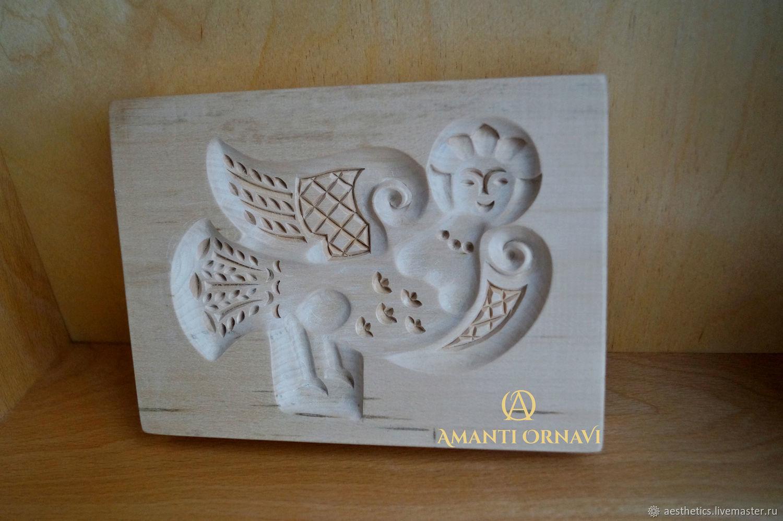 Gingerbread boards of wood Bird Sirin, Form, Rostov,  Фото №1