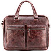 "Сумки и аксессуары handmade. Livemaster - original item Кожаная деловая сумка ""Гофман"" (коричневый антик). Handmade."