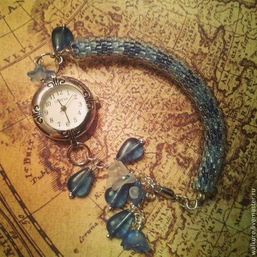 Часы ручной работы. Ярмарка Мастеров - ручная работа. Купить Часы Меланж. Handmade. Разноцветный, бусины, нитки, цепочка