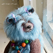 Куклы и игрушки handmade. Livemaster - original item Forget-me-not... Collectible bear style Teddy. Handmade.