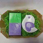 Подарки к праздникам ручной работы. Ярмарка Мастеров - ручная работа Набор мыла ручной работы Лаванда с птичкой мыло. Handmade.