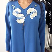 """Одежда ручной работы. Ярмарка Мастеров - ручная работа Красивое платье""""Голубая орхидея"""". Handmade."""