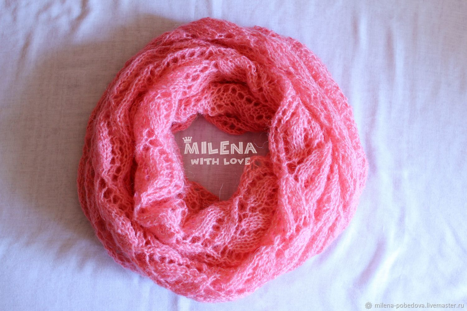 Shawls & Warm Stoles handmade. Livemaster - handmade. Buy Knitted stitch Pink Flamingo.Mohair, buy tippet