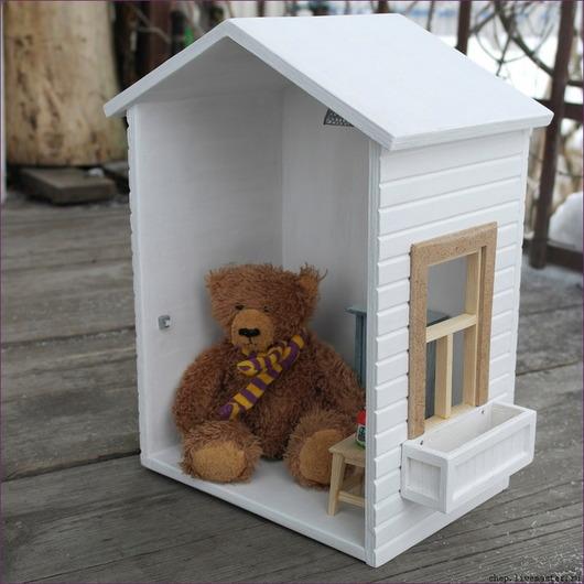 Детская ручной работы. Ярмарка Мастеров - ручная работа. Купить Полка - Дом Мишутки. Handmade. Белый, кукольный дом