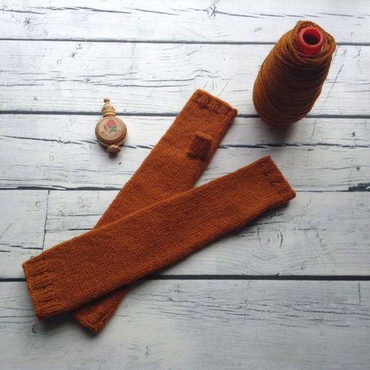 Варежки, митенки, перчатки ручной работы. Ярмарка Мастеров - ручная работа. Купить Митенки длинные из Дундаги. Handmade. Дундага
