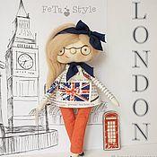 Куклы и пупсы ручной работы. Ярмарка Мастеров - ручная работа Кукла Лондон и Брошь Кукла текстильная интерьерная. Handmade.
