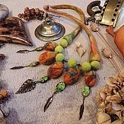 """Украшения ручной работы. Ярмарка Мастеров - ручная работа Колье """" Осенний вальс"""". Handmade."""