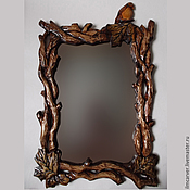 "Для дома и интерьера handmade. Livemaster - original item The mirror in carved frame ""Autumn Fantasy"". Handmade."