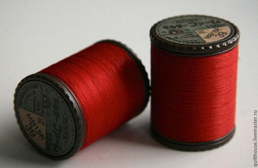 Шитье ручной работы. Ярмарка Мастеров - ручная работа. Купить Японские нитки для стежки, №39. Handmade. Ярко-красный, Нитки