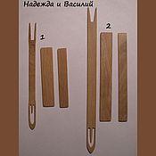 Материалы для творчества ручной работы. Ярмарка Мастеров - ручная работа Челнок и шаблон для плетения сетей. Handmade.