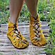 Handmade Shoes handmade. Livemaster - handmade. Buy Moccasin in suede with mustard.Yellow, women's shoes, suede