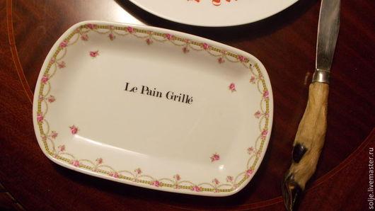 Винтажная посуда. Ярмарка Мастеров - ручная работа. Купить Блюдо для гренков или тостов 1950-е Фарфор Франция Поднос. Handmade.