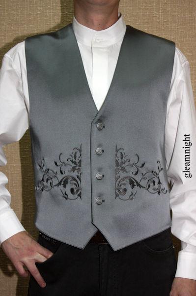 Для мужчин, ручной работы. Ярмарка Мастеров - ручная работа. Купить Нарядный мужской жилет. Handmade. Вышивка, бутоньерка для жениха