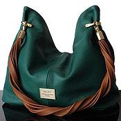 Сумки и аксессуары handmade. Livemaster - original item Granville Dark Green Handmade Genuine Leather Bag. Handmade.
