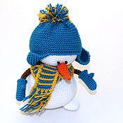 Куклы и игрушки handmade. Livemaster - original item Snowman. The snowman knitted, knitted snowman, Christmas snowman. Handmade.