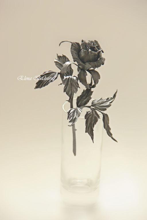 """Броши ручной работы. Ярмарка Мастеров - ручная работа. Купить Роза из натуральной кожи """"Magic night"""". Handmade. Черный, готика"""