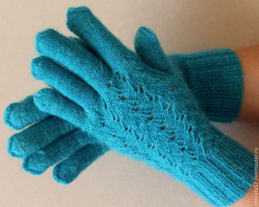 """Варежки, митенки, перчатки ручной работы. Ярмарка Мастеров - ручная работа. Купить Перчатки """"Бирюза"""". Handmade. Бирюзовый, перчатки зимние"""
