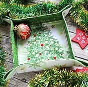 Для дома и интерьера ручной работы. Ярмарка Мастеров - ручная работа Текстильная корзинка-конфетница. Handmade.