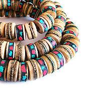 Материалы для творчества handmade. Livemaster - original item Beads Bone Yak Tibet 7H15mm. Handmade.