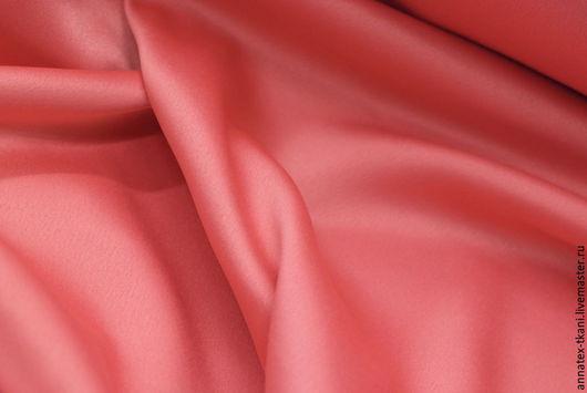 Атлас `Русский сатин` - цвет коралловый