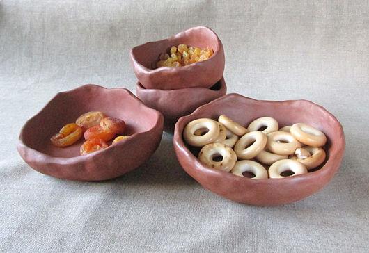 Пиалы ручной работы. Ярмарка Мастеров - ручная работа. Купить Экологическая посуда(малая). Handmade. Коричневый, Блюдце, терракота, природная глина