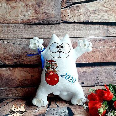 Сувениры и подарки ручной работы. Ярмарка Мастеров - ручная работа Приколы: Новогодний кот Саймона. Handmade.