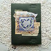 """Канцелярские товары ручной работы. Ярмарка Мастеров - ручная работа Блокнот """"Лавандовое сердце"""". Handmade."""
