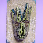 Mask handmade. Livemaster - original item Groot mask,Mask on the wall, the Druid,Head, Groot,Guardians of the galaxy. Handmade.
