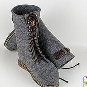 """Обувь ручной работы. Ярмарка Мастеров - ручная работа Ботинки из войлока """"Strong"""". Handmade."""