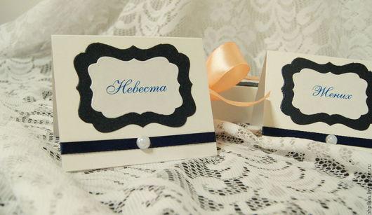 Свадебные аксессуары ручной работы. Ярмарка Мастеров - ручная работа. Купить Карточки рассадки. Handmade. Тёмно-синий, рассадочные карточки