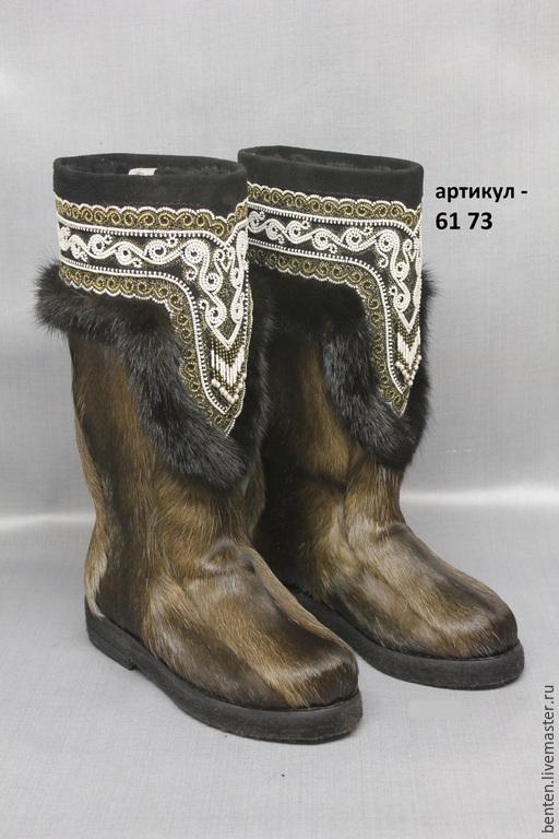 Обувь ручной работы. Ярмарка Мастеров - ручная работа. Купить Унты из камуса оленя. Handmade. Камус, бисер, билэ