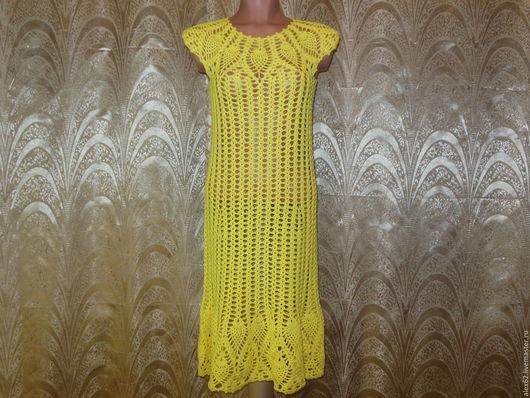 Платья ручной работы. Ярмарка Мастеров - ручная работа. Купить Платье желтое. Handmade. Желтый, ананасы