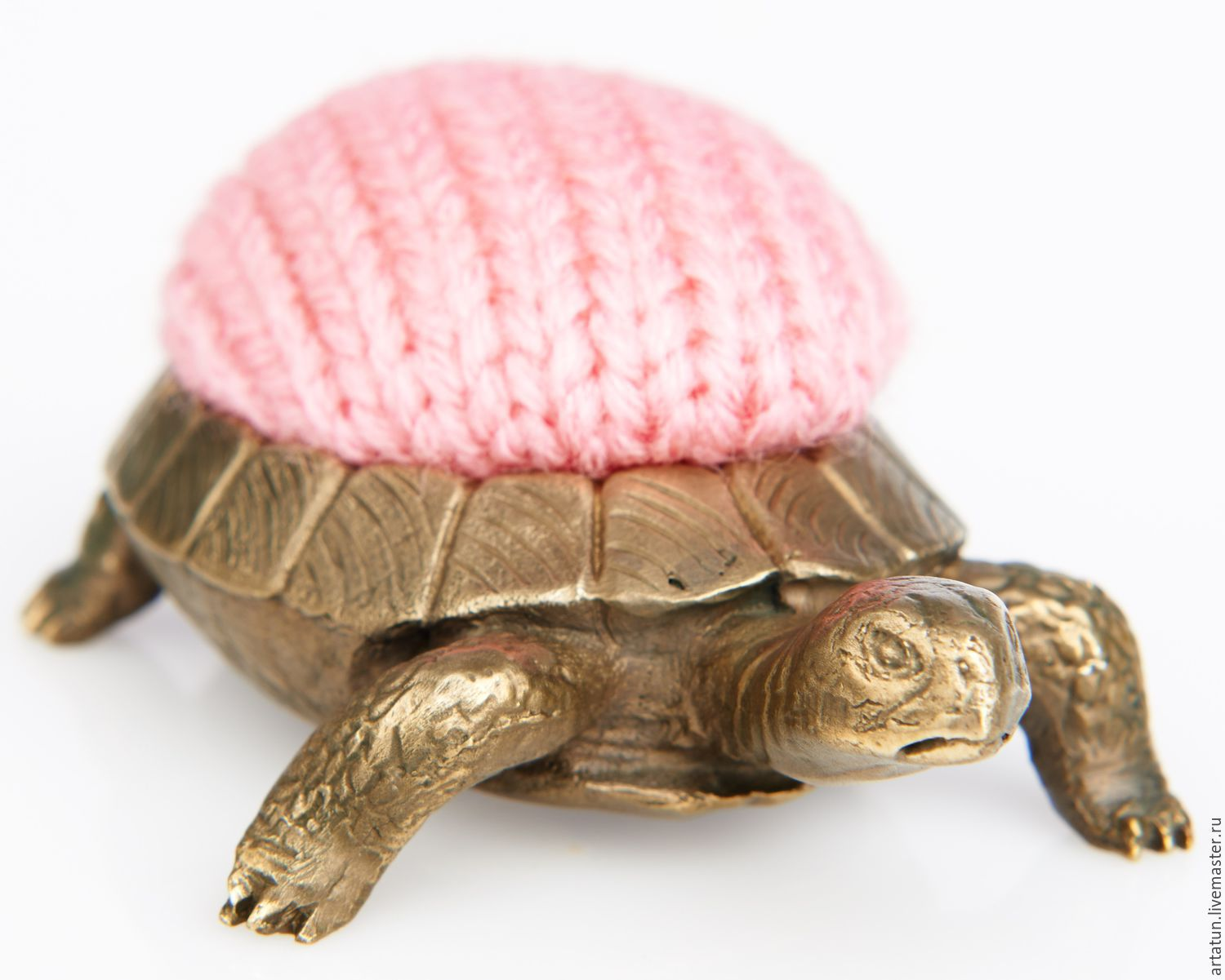 Pincushion turtle, brass, knit, 50х80 ×, Interior elements, Moscow,  Фото №1