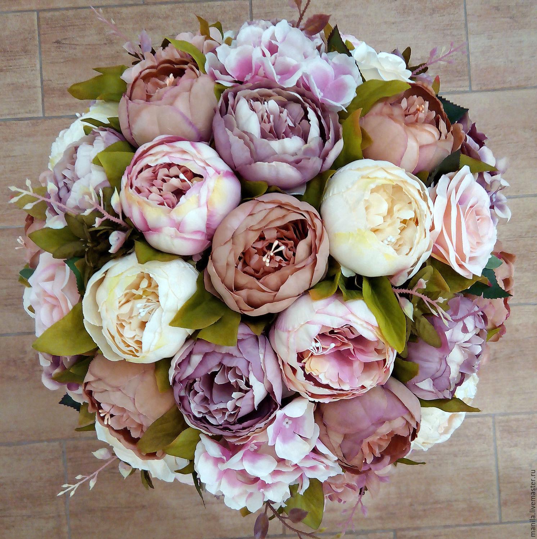 Фото букетов из искусственных цветов для напольной вазы