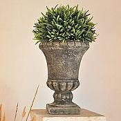 Цветы и флористика handmade. Livemaster - original item Antique vase made of concrete for floral and decor, outdoor flowerpot. Handmade.