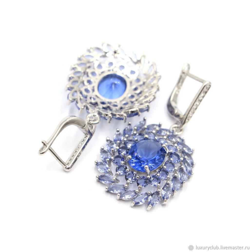 7a4f5f70d20e Серьги с иолитом серебро 925 – купить в интернет-магазине на Ярмарке  Мастеров с ...