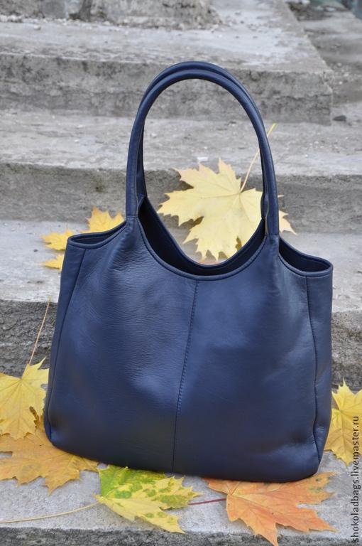 """Женские сумки ручной работы. Ярмарка Мастеров - ручная работа. Купить Кожаная сумка -  ' Регби. Осень..."""". Handmade."""