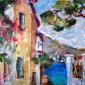 """Картины и панно ручной работы. Ярмарка Мастеров - ручная работа пейзаж """"у моря"""". Handmade."""