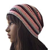 handmade. Livemaster - original item Cotton cap Evrina. Handmade.