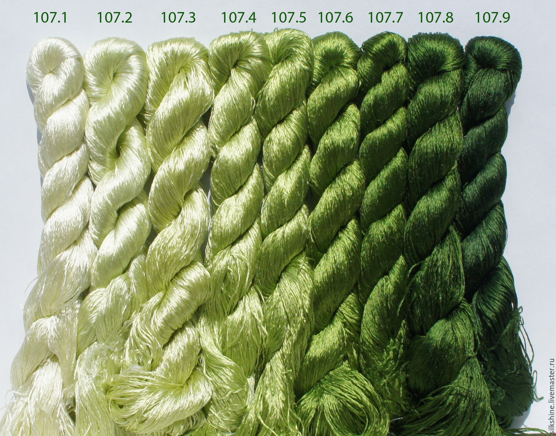 Шелковые нитки для вышивания 60