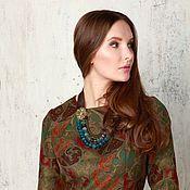 Одежда ручной работы. Ярмарка Мастеров - ручная работа Платье зеленое (ткань Ralph Lauren). Handmade.