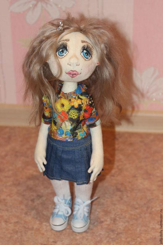 Коллекционные куклы ручной работы. Ярмарка Мастеров - ручная работа. Купить Кукла Анюта. Handmade. Оранжевый, тыквоголовка, шерсть