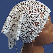 Аксессуары handmade. Livemaster - original item scarf crocheted openwork white. Handmade.