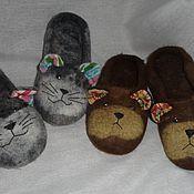 """Обувь ручной работы. Ярмарка Мастеров - ручная работа """"Мурзики"""" и """"Мишки косолапые"""" Тапотульки. Handmade."""