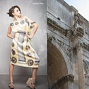 Одежда ручной работы. Ярмарка Мастеров - ручная работа ГА_034 Платье Рим, именные ткани Dolce&Gabbana.. Handmade.
