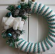 Подарки к праздникам ручной работы. Ярмарка Мастеров - ручная работа Рождественский венок на дверь #2. Handmade.